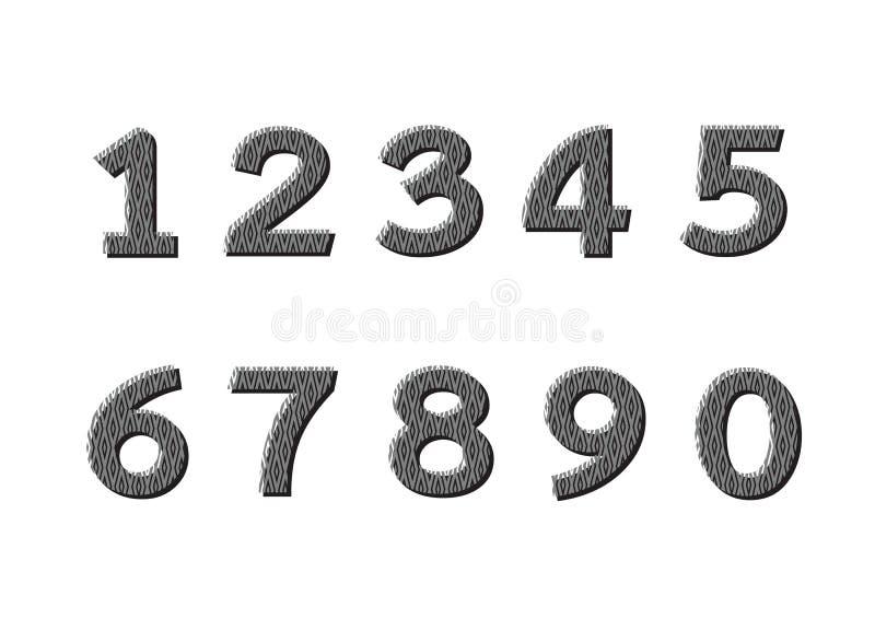 被设置的编号 例证 库存例证