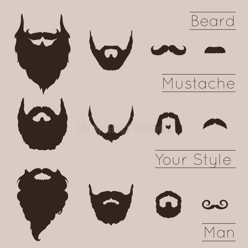 被设置的胡子和髭 皇族释放例证