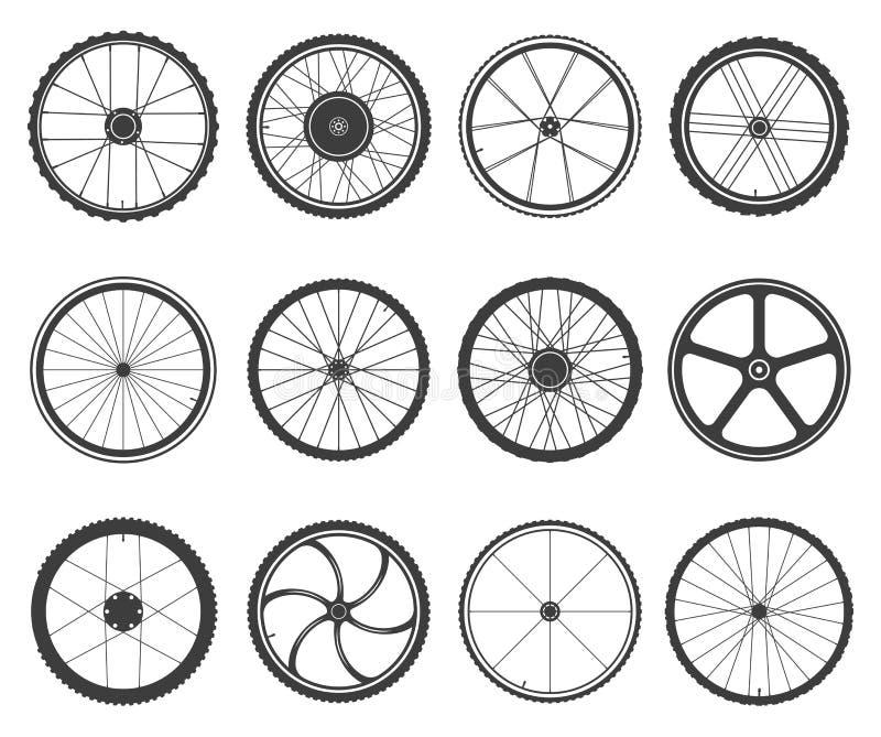 被设置的自行车车轮 皇族释放例证