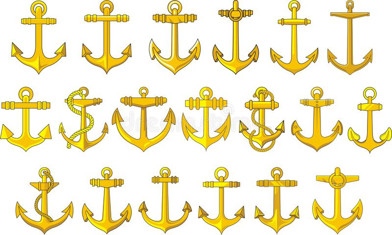 Download 被设置的船锚 向量例证. 插画 包括有 船舶, 图标, 航行, 查出, 风帆, 金属, 绳索, 海运, 符号 - 30329725