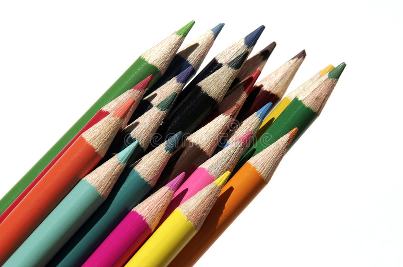 被设置的色的铅笔 免版税图库摄影