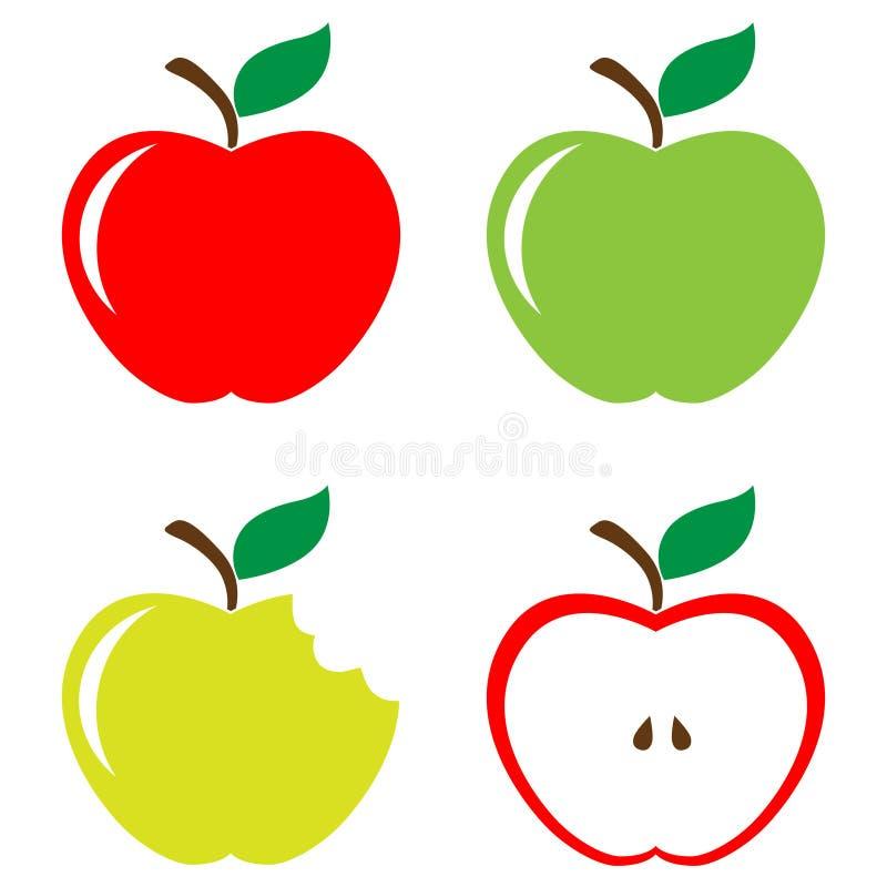 被设置的苹果 向量例证