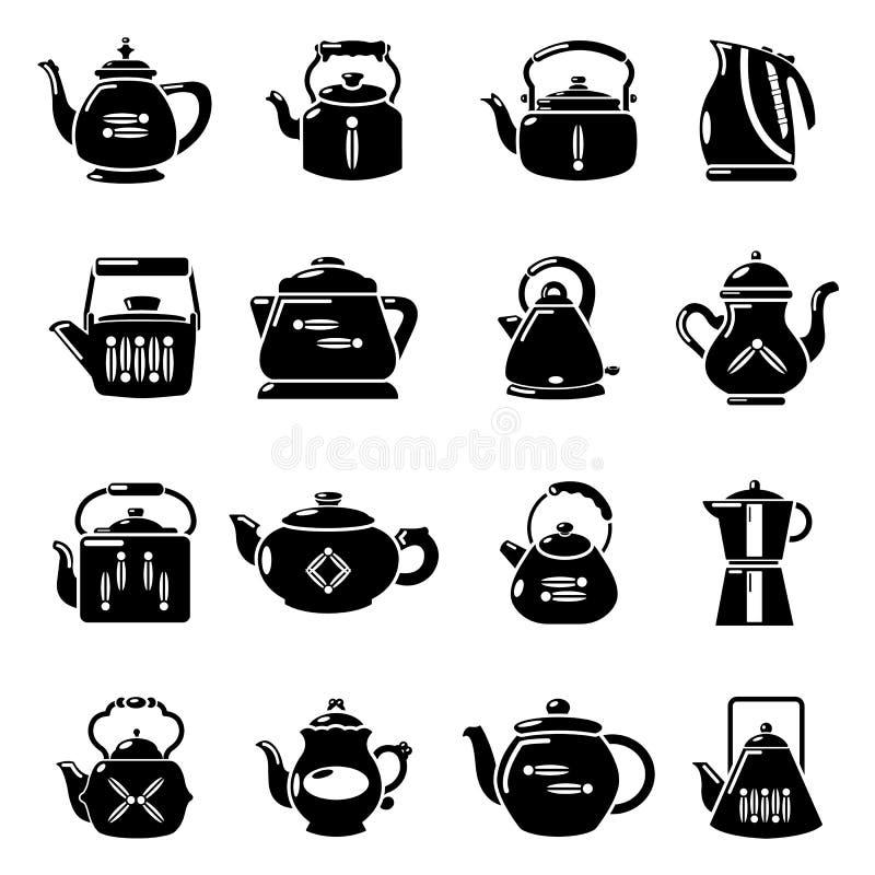 被设置的茶壶象,简单的样式图片