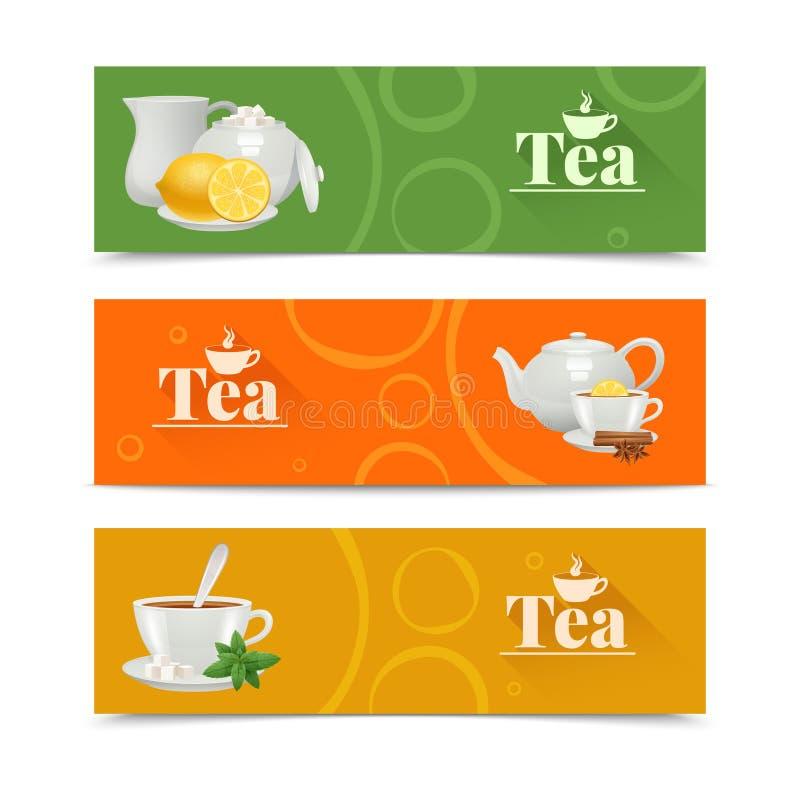 被设置的茶横幅 皇族释放例证