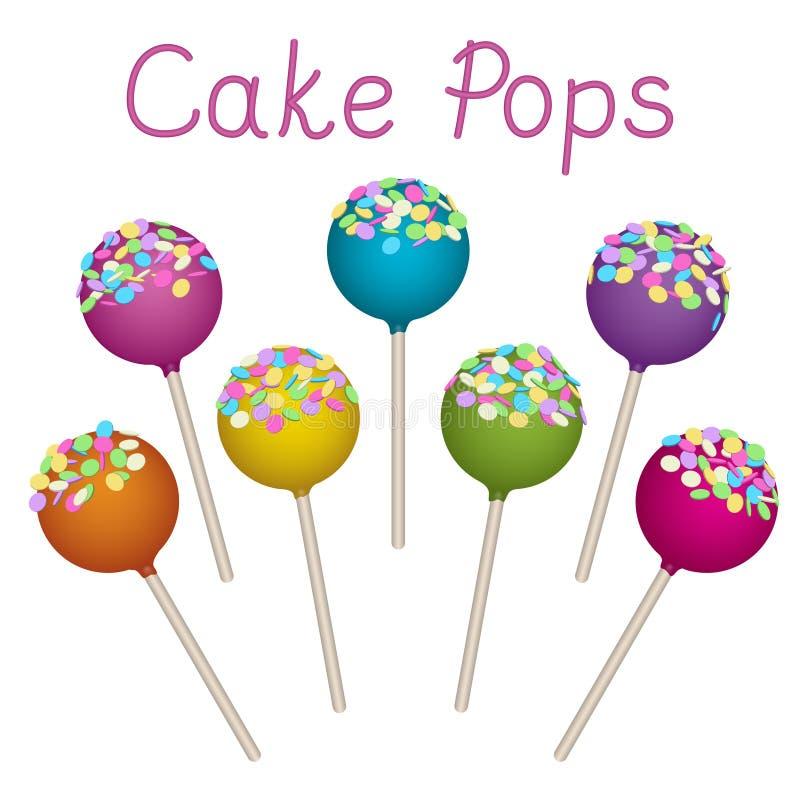 被设置的蛋糕流行音乐 库存例证