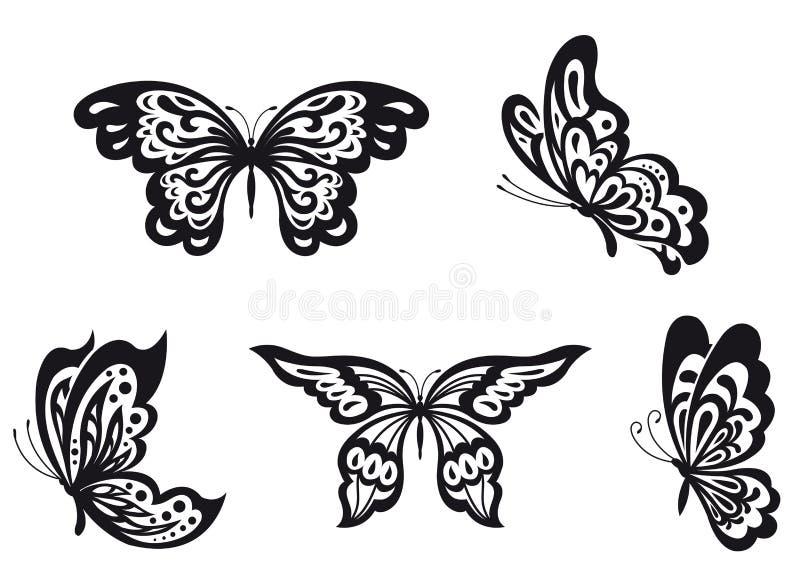 被设置的蝴蝶 库存例证