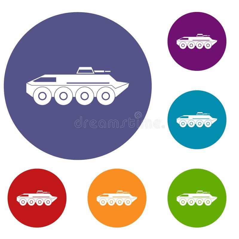 被设置的装甲运兵车象 向量例证