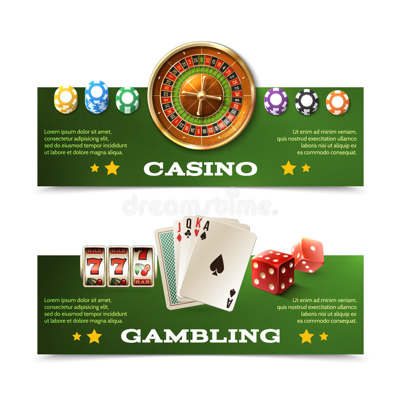 被设置的赌博娱乐场横幅 皇族释放例证