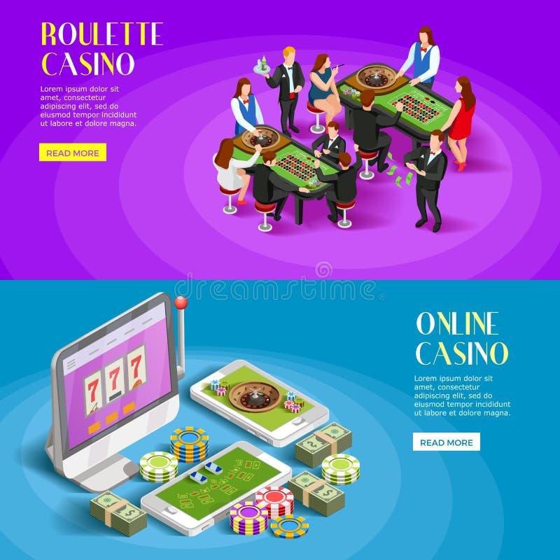 被设置的赌博娱乐场等量横幅 库存例证