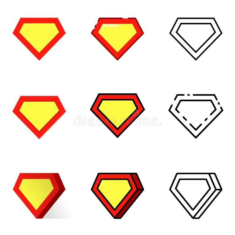 被设置的超级英雄象 向量例证