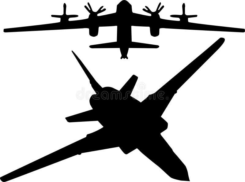 被设置的轰炸机 皇族释放例证