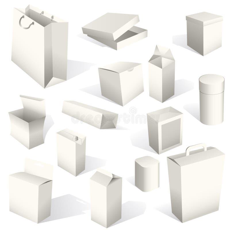 被设置的配件箱程序包 向量例证