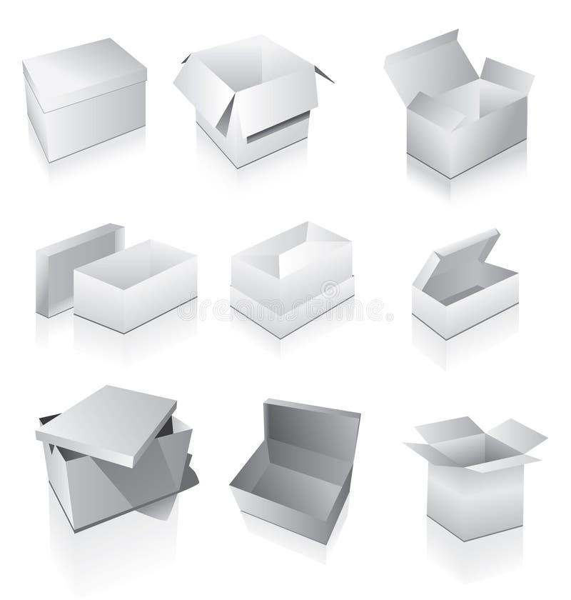 被设置的配件箱 向量例证