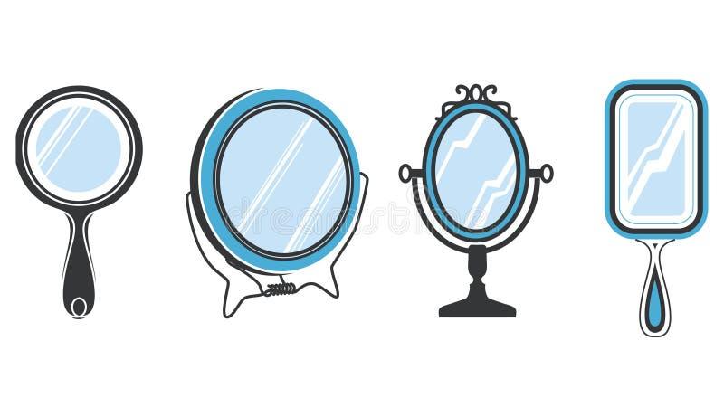 被设置的镜子 皇族释放例证