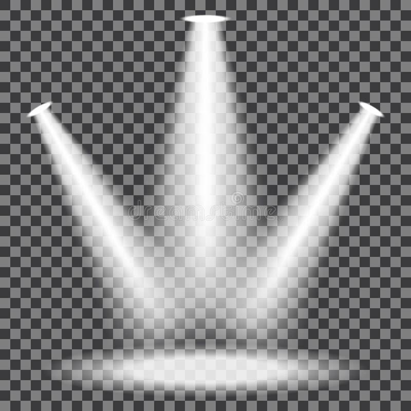 被设置的阶段聚光灯 向量例证