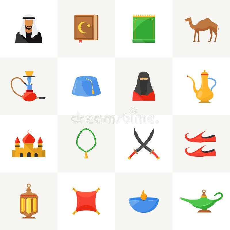 被设置的阿拉伯文化象 皇族释放例证