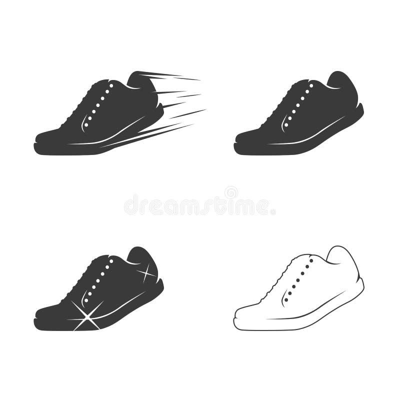 被设置的鞋子图标 皇族释放例证