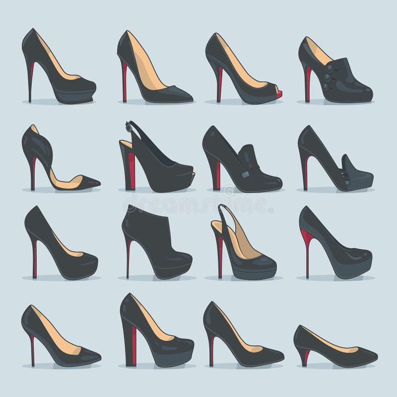 被设置的鞋子 皇族释放例证