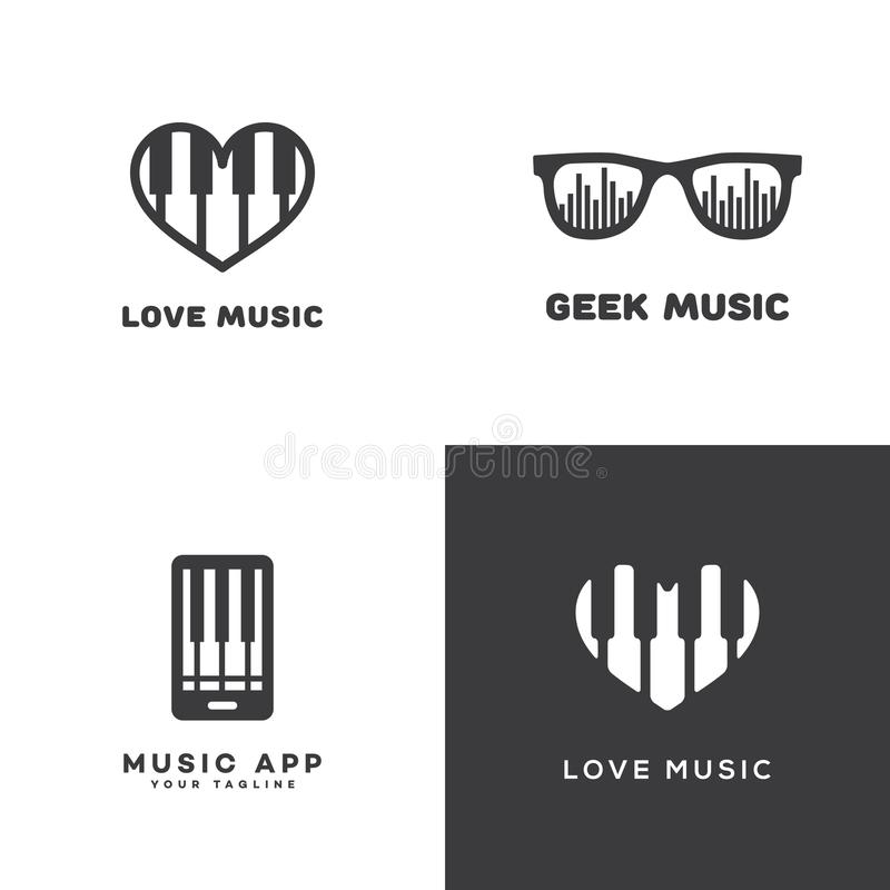 被设置的音乐商标 库存例证