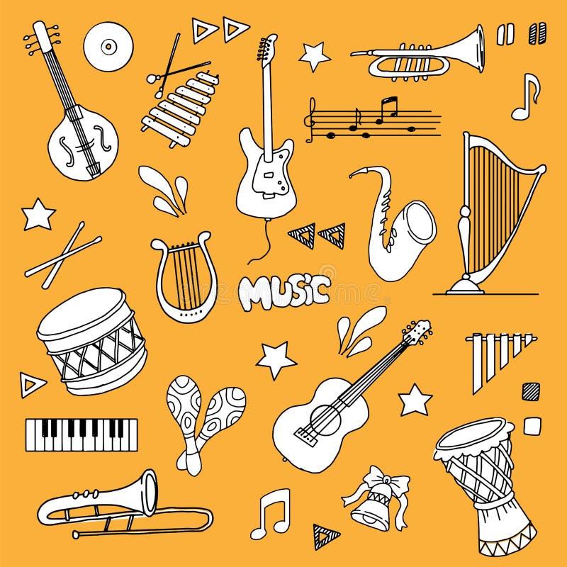 被设置的音乐项目 皇族释放例证