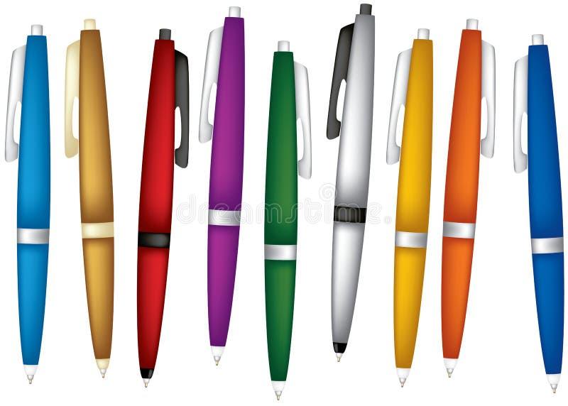 被设置的颜色笔 向量例证