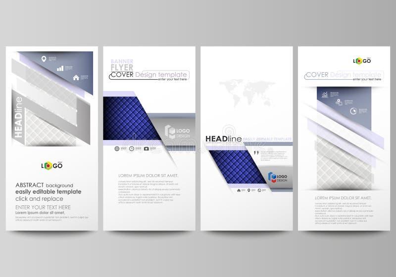 被设置的飞行物,现代横幅 企业总公司例证样式模板 报道设计模板,容易的编辑可能的抽象传染媒介布局 发光 库存例证