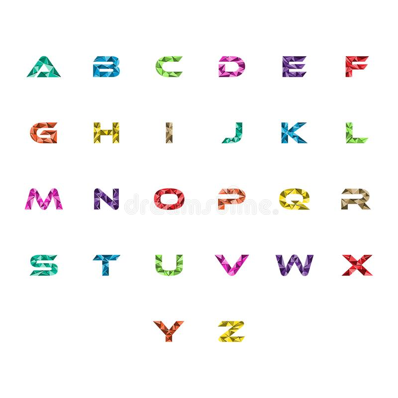 被设置的首写字母资本抽象三角商标传染媒介 向量例证