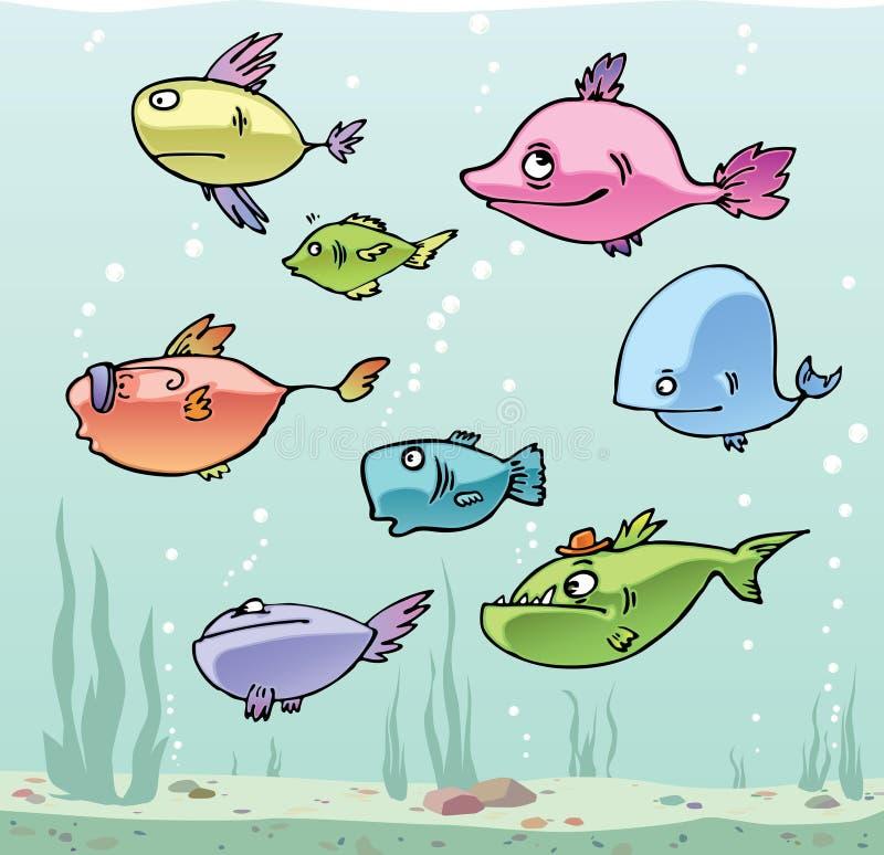 被设置的鱼 向量例证