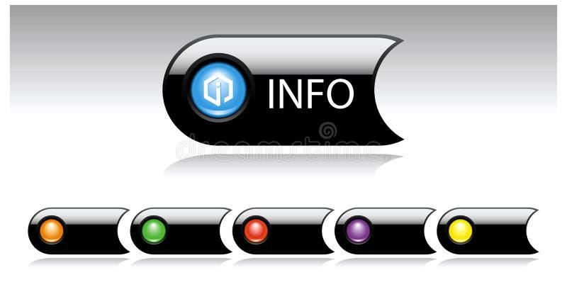 被设置的黑色按钮多媒体 库存例证