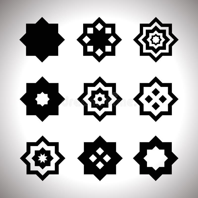 被设置的黑几何商标 皇族释放例证