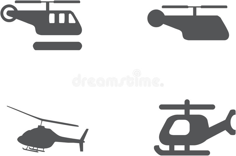 被设置的直升机象-传染媒介 库存照片