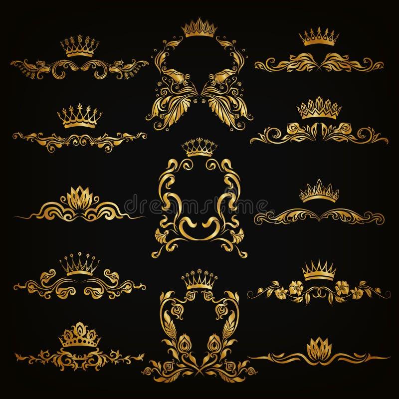 被设置的组合图案商标 皇族释放例证
