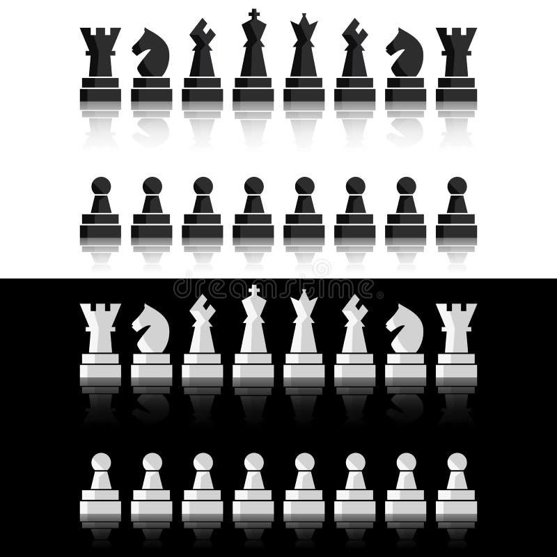 被设置的黑棋象 棋盘形象 传染媒介例证棋子 皇族释放例证