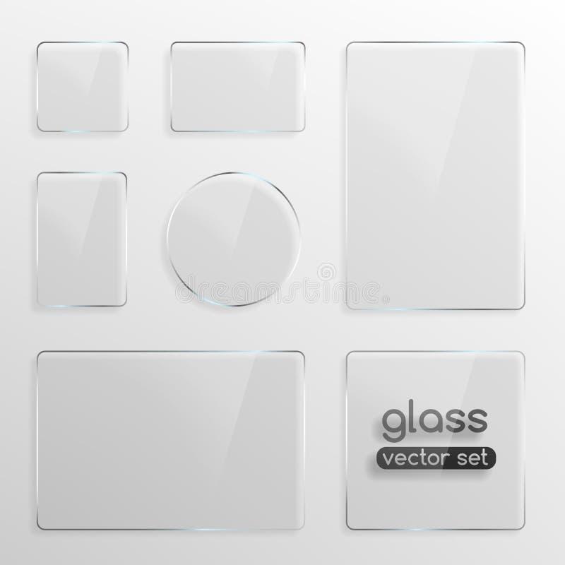 被设置的玻璃板 皇族释放例证