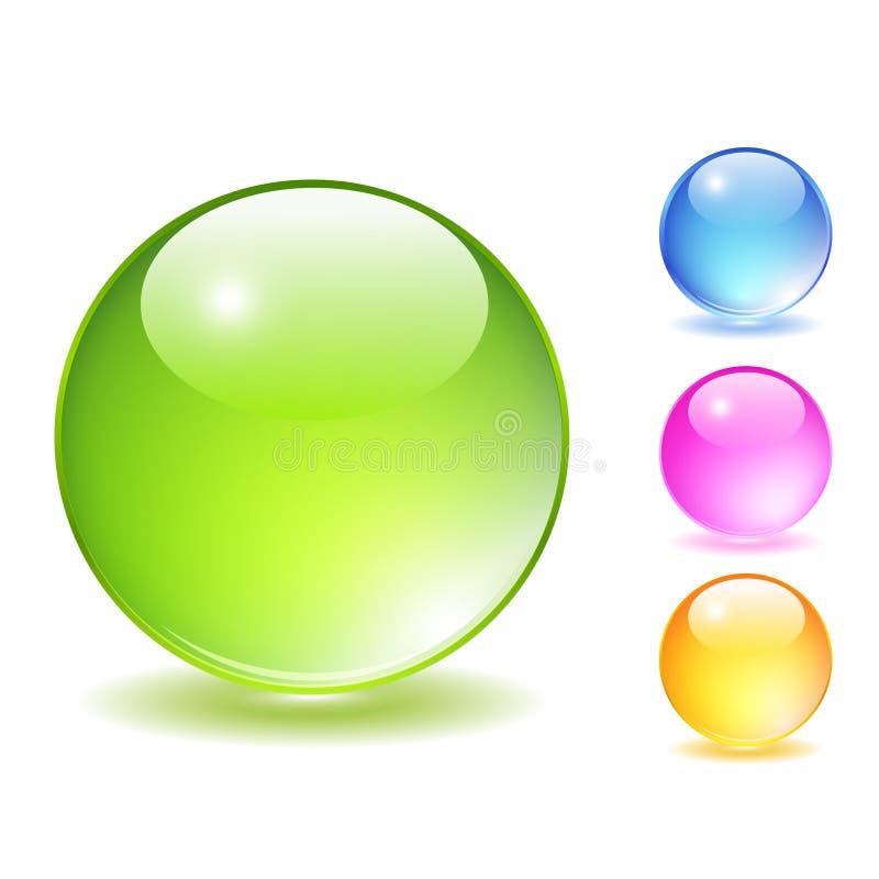 被设置的玻璃球 皇族释放例证