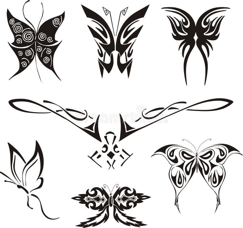 被设置的蝴蝶纹身花刺