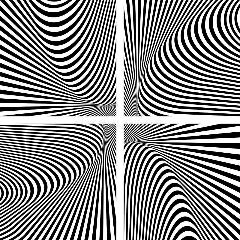 被设置的幻觉纹理。抽象欧普艺术背景 皇族释放例证