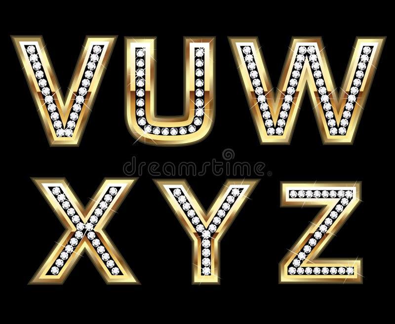 被设置的5个bling的首字母 皇族释放例证
