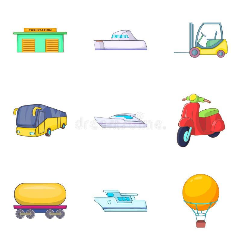 被设置的Autoship象,动画片样式 库存例证