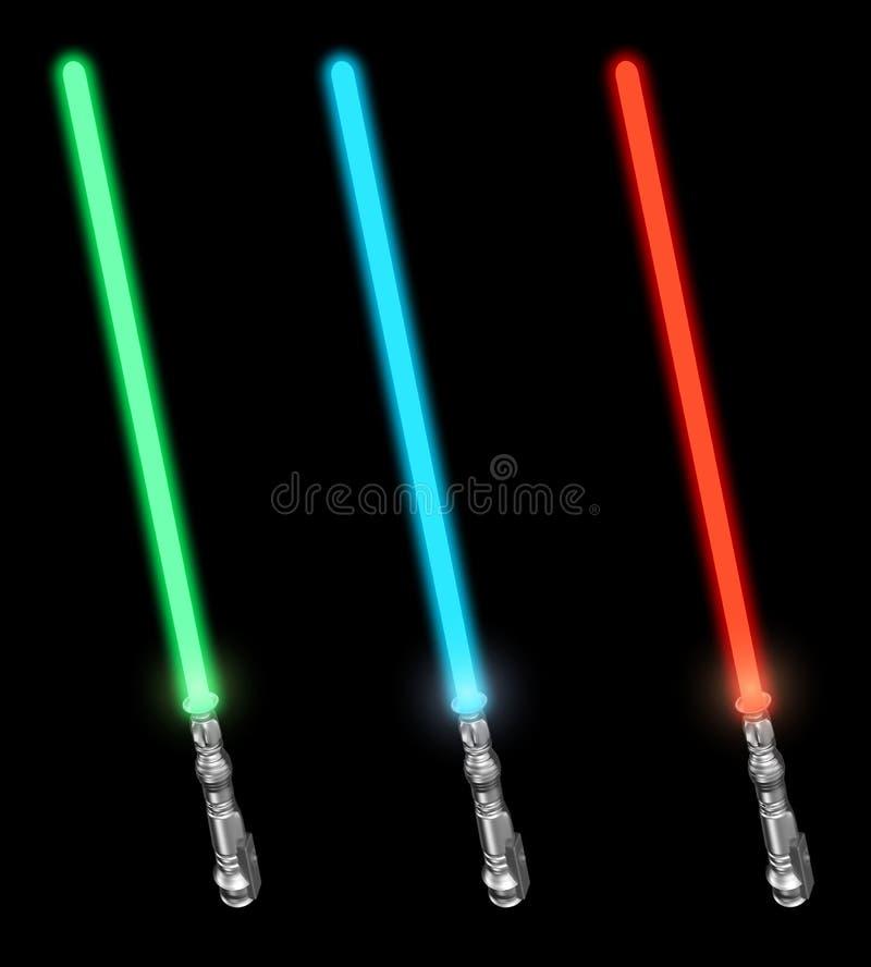 被设置的lightsabers 向量例证