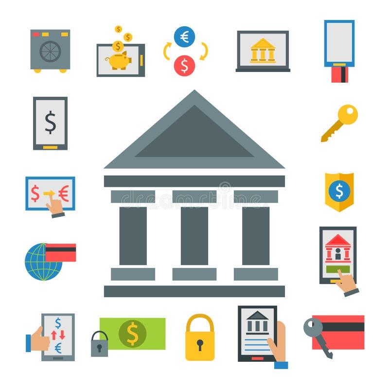 被证实的网上付款方法提供经费给支付在平的样式的流动银行业务工作场所传染媒介例证 库存例证