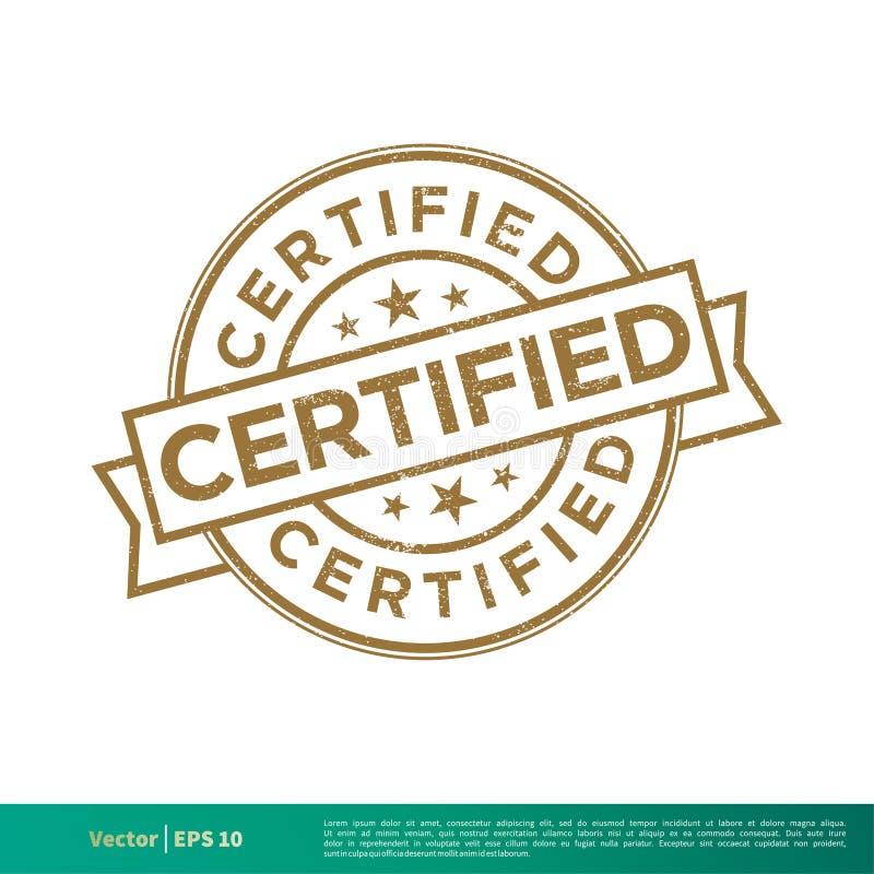 被证明的封印邮票传染媒介模板例证设计 o 库存例证