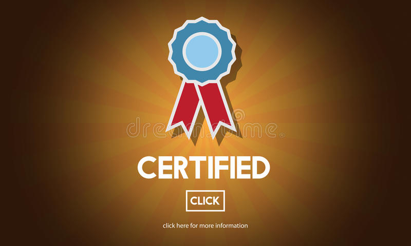 被证明的认同协议确认概念 库存例证