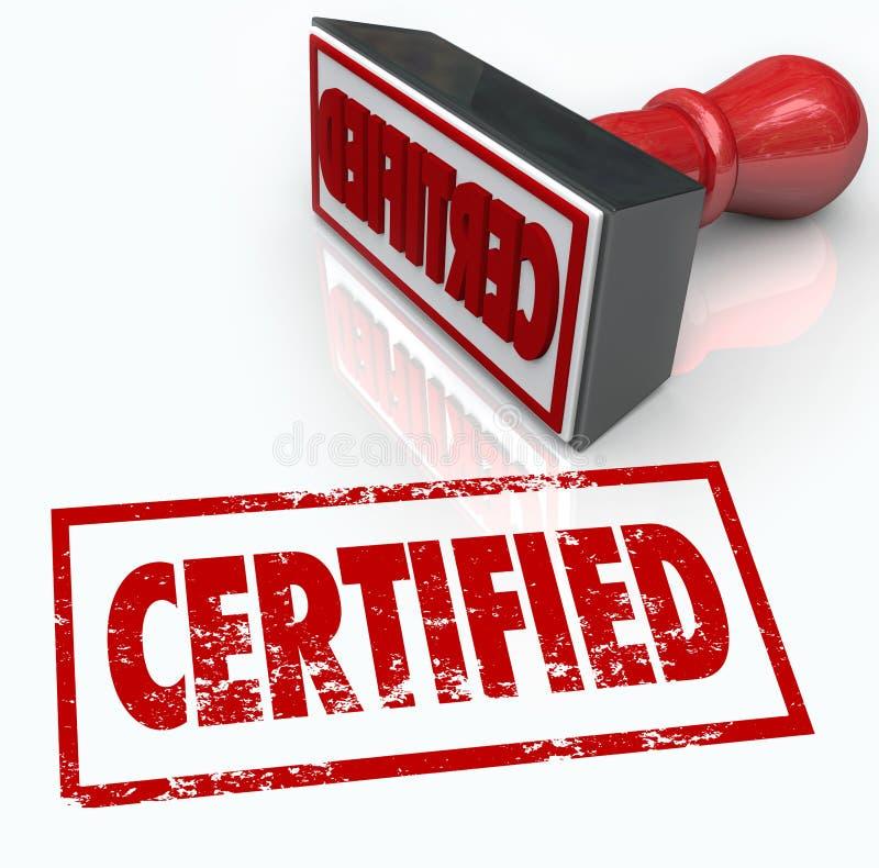 被证明的邮票正式证明公章 向量例证