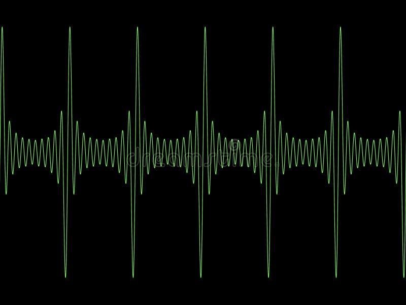 被调整的正弦波 库存例证