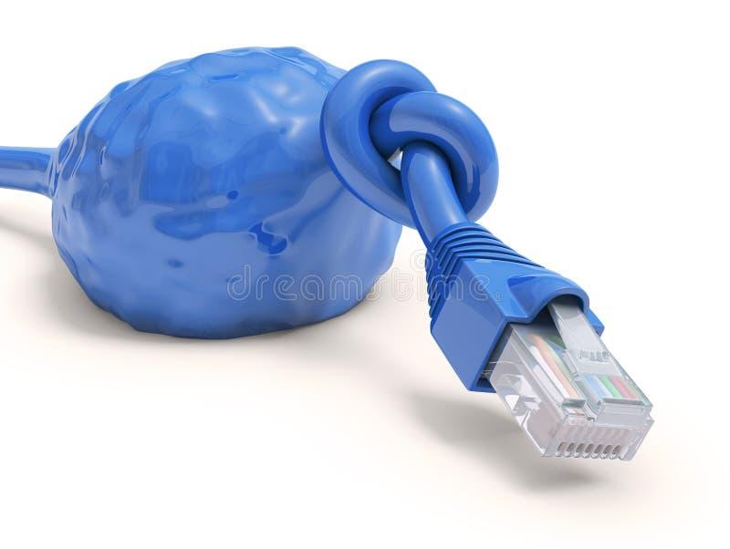 被超载的电缆 向量例证