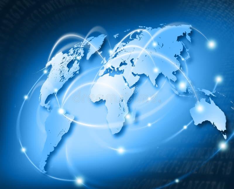 被连接的世界-欧洲 向量例证