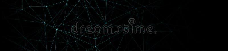 被连接的几何数字导线,几何创造性的传染媒介背景 向量例证