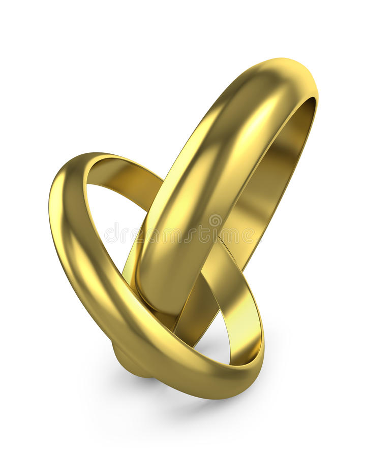 被连接的对敲响婚礼 向量例证