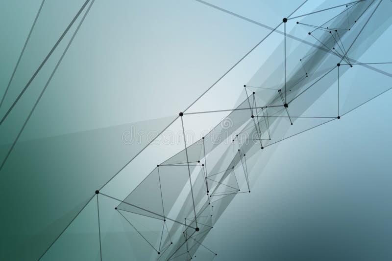 被连接的小点和线形成一条巨大的传送带 皇族释放例证